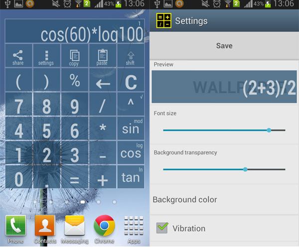 Android-Widget-Calculator