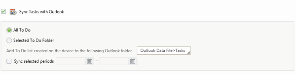 Sync Tasks with Outlook