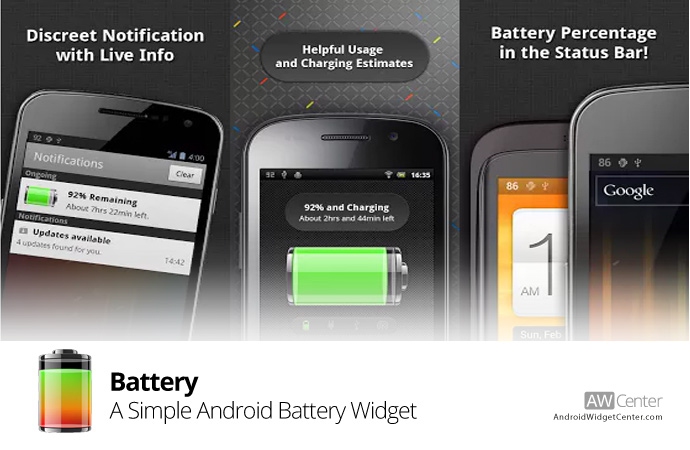 A-Simple-Android-Battery-Widget