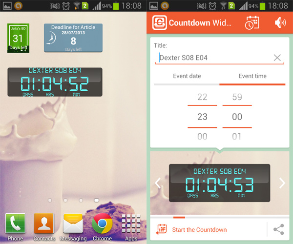 Android-Counter-Widget