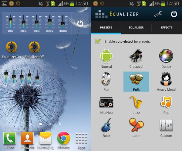 Android-Equalizer-Widget