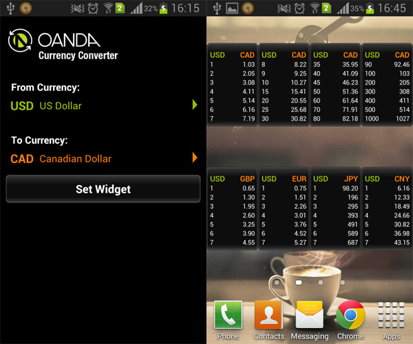Currency-Converter-Android-Widget