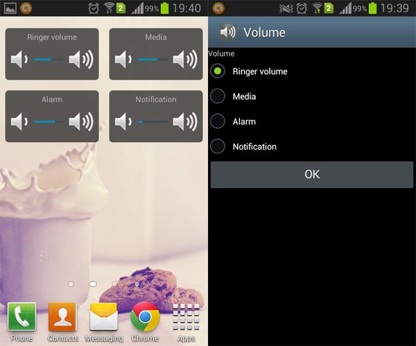 Volume-Control-Widget