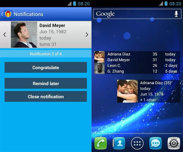 Birthday-Reminder-Android-Widget