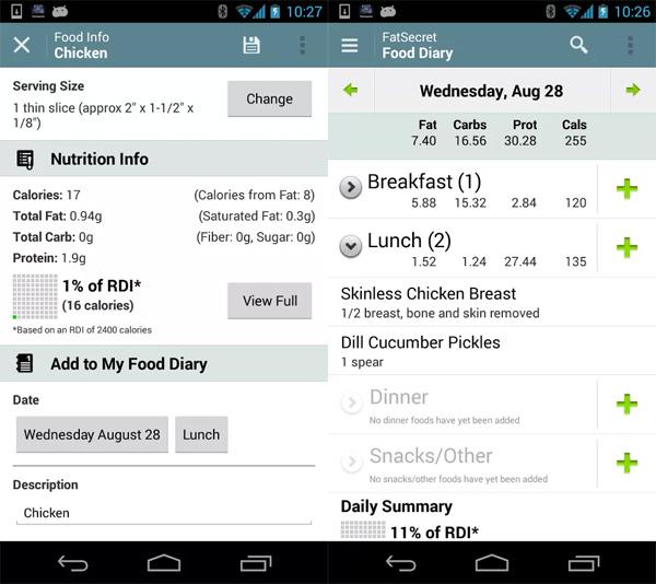 Calorie-Counter-Settings