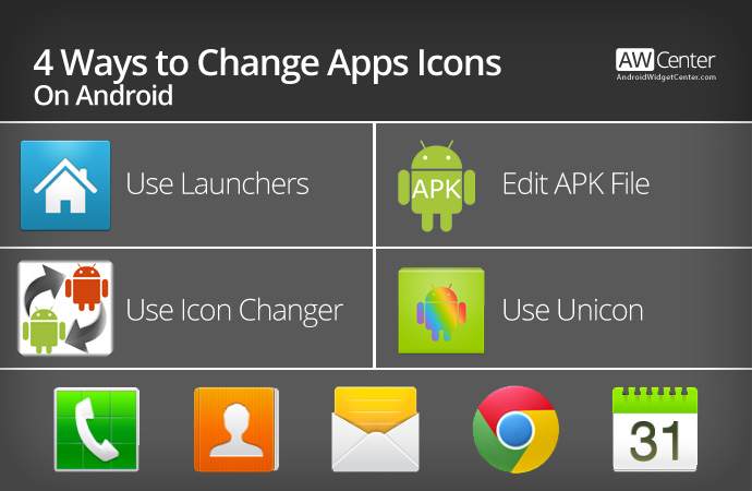 4 Ways to Change Apps Icons on Android - Without Root | AW