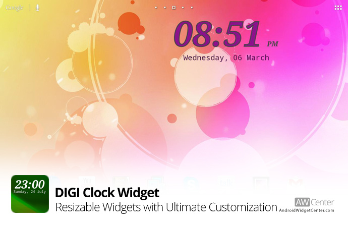 Digi-Clock-Widget-for-Android