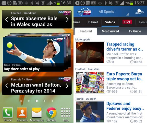 EuroSport-Android-Widget