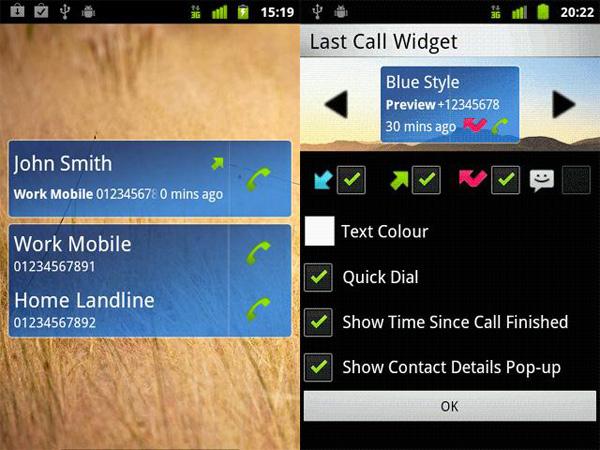 Last-Call-Android-Widget