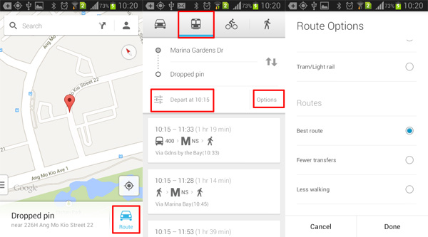 Route-Options-Google-Maps-Android