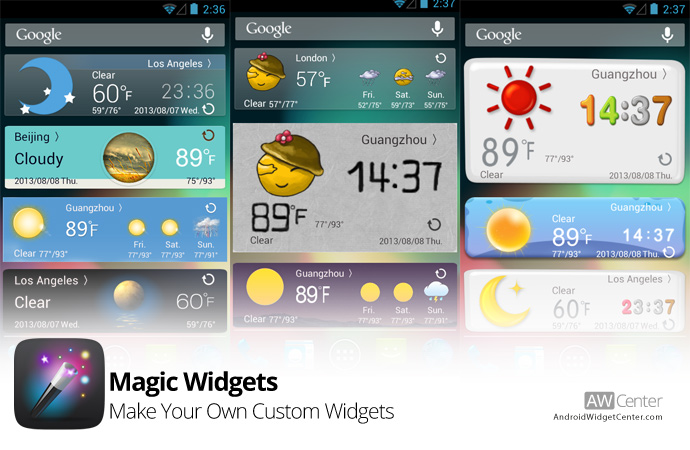 Android Widget Center