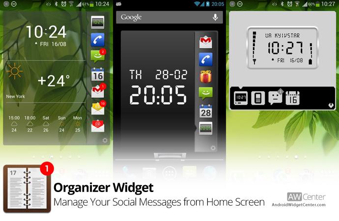 Android Organizer Widget