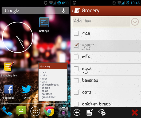 Android-Shopping-Lists-Widget