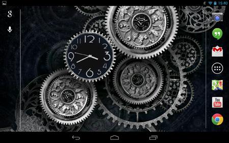Black-Clock-LiveWallpaper