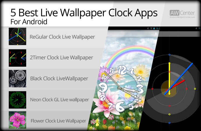 5 Best Live Wallpaper Clock for Android