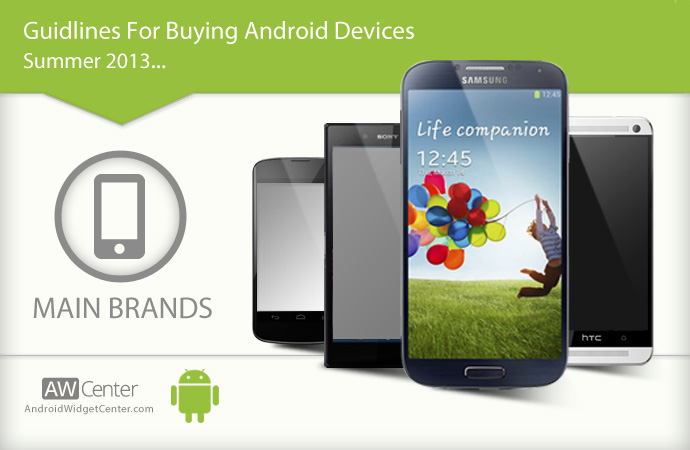 Main Brands of Android Devices