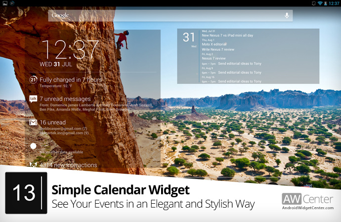 Simple-Calendar-Widget-for-Android