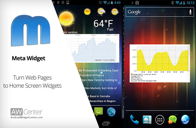 Meta Widget: Add Interactive web contents on Home Screen