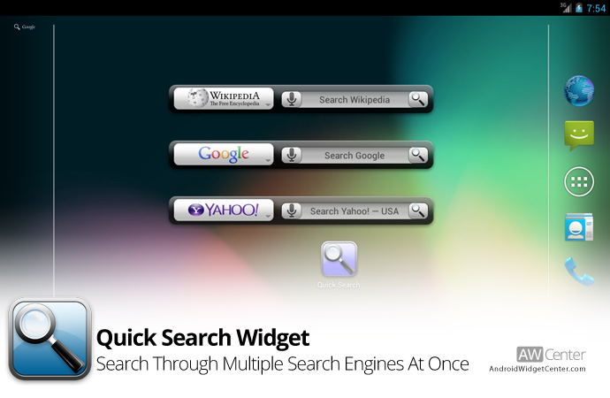 Quick-Search-Widget