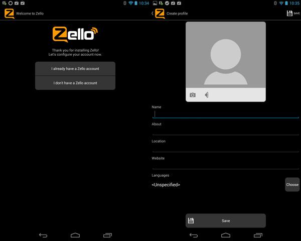 Zello Registeration