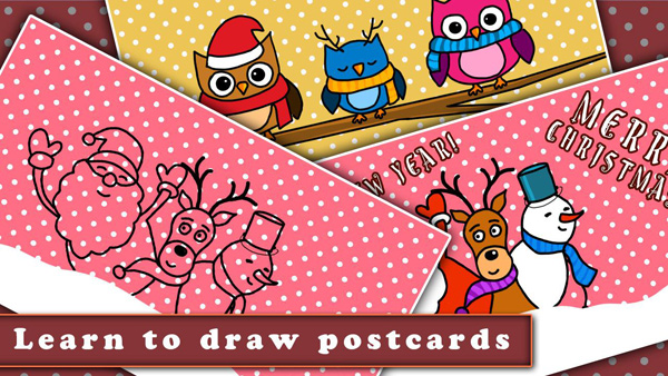 03-Draw-Christmas-Postcard