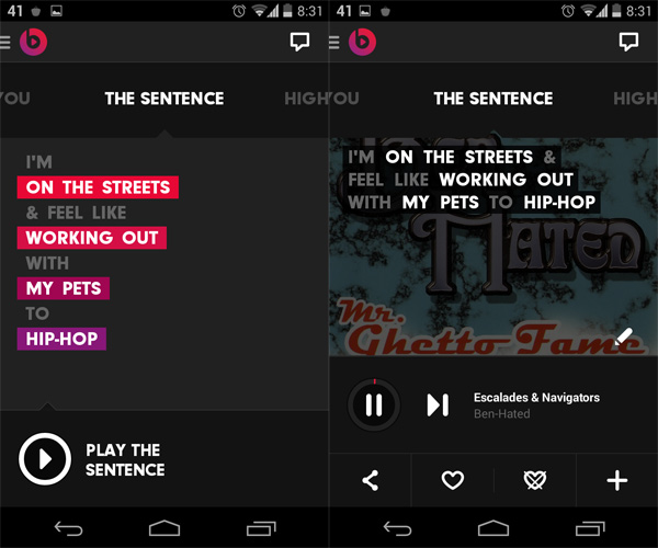 Beats-Music-for-Android-The-Sentence