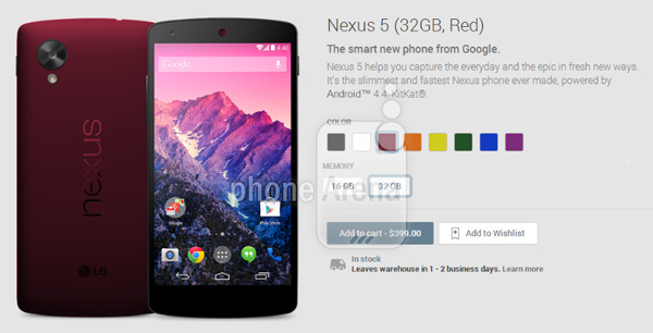 Google-Nexus-5-in-Red