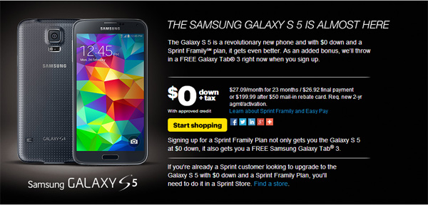 Galaxy-S5-Price-Sprint