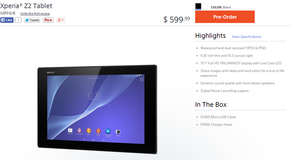 Sony-Xperia-Z2-Tablet-in-Canada-and-US
