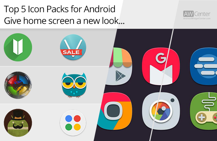 Top 5 Icon Packs for Android: Give Home Screen a New Look!