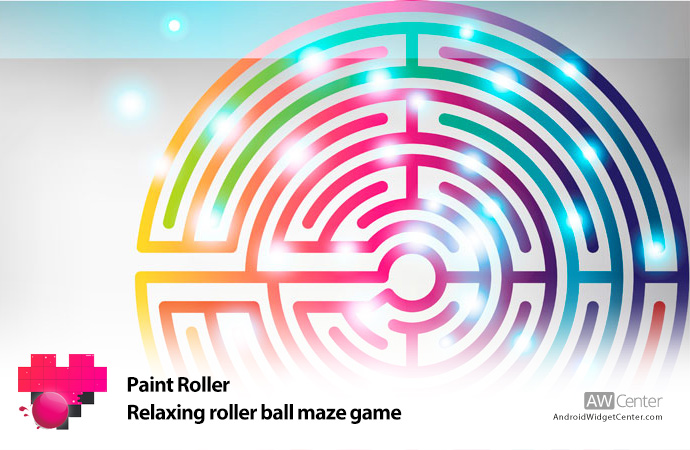 Paint-Roller-–-Relaxing-roller-ball-maze-game
