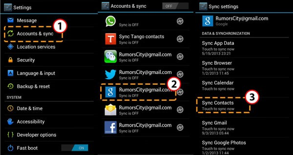 01-Android Contacts Backup