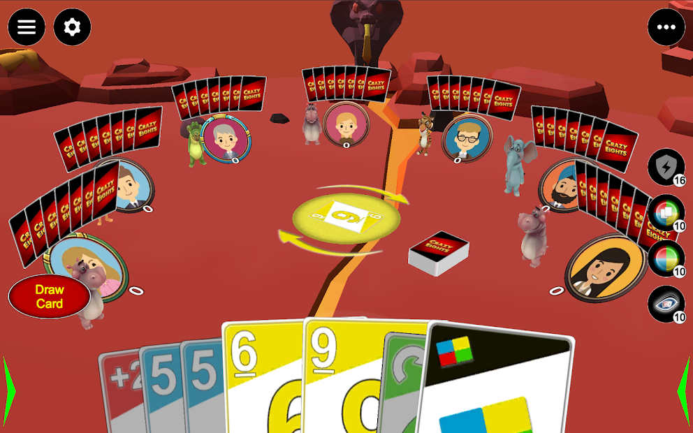 Crazy Eights 3D An alternative for UNO game