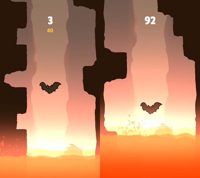 Bats Rush Time Killer Casual Game